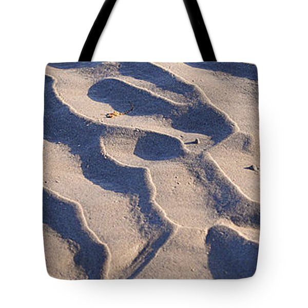 Beach Sand At Sunset Tote Bag by Phill Petrovic