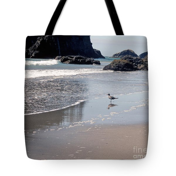 Tote Bag featuring the photograph Beachcomber by Sharon Elliott