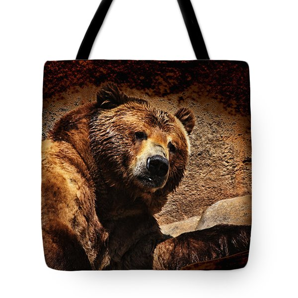 Bear Artistic Tote Bag by Karol Livote