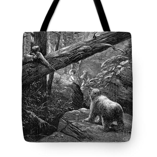 Bear Hunt, 1876 Tote Bag by Granger