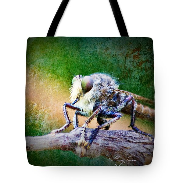 Bearded Robber Fly Tote Bag by Barry Jones