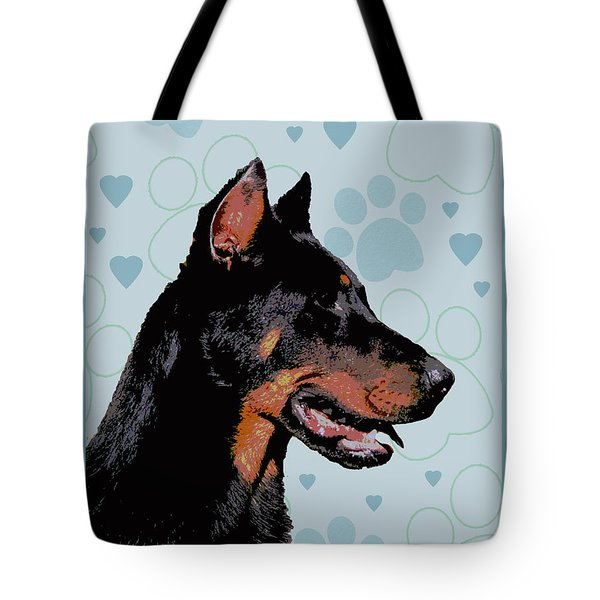 Beauceron Tote Bag by One Rude Dawg Orcutt