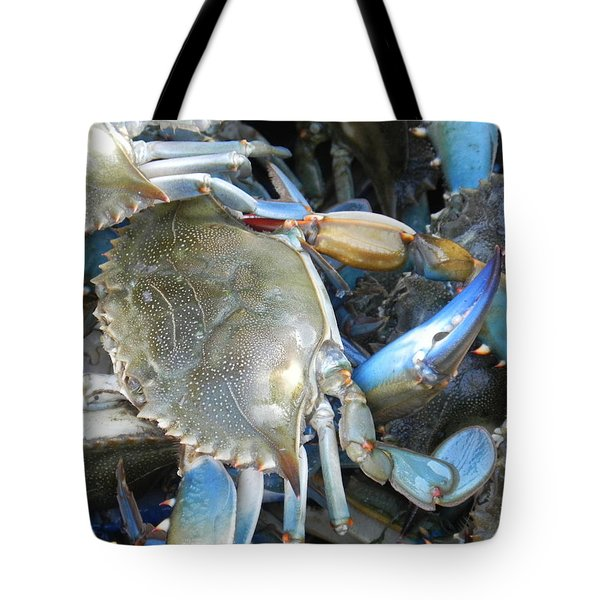 Beaufort Blue Crabs Tote Bag by Patricia Greer