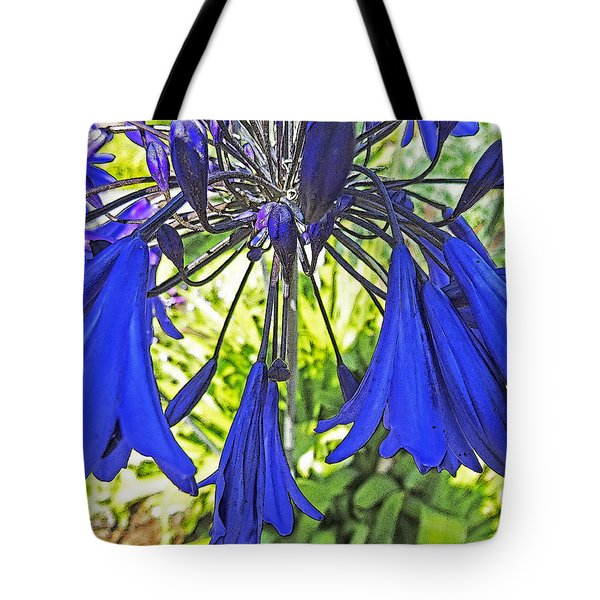 Beautiful Bluebells Close-up Tote Bag by Anne Mott