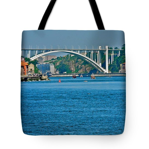 Tote Bag featuring the photograph Beautiful Bridge In Porto by Kirsten Giving