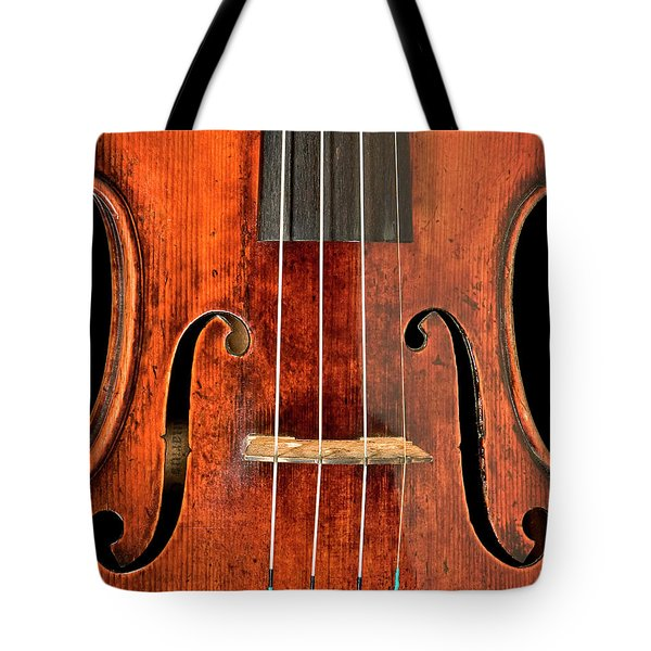 Tote Bag featuring the photograph Beautiful F Holes by Endre Balogh