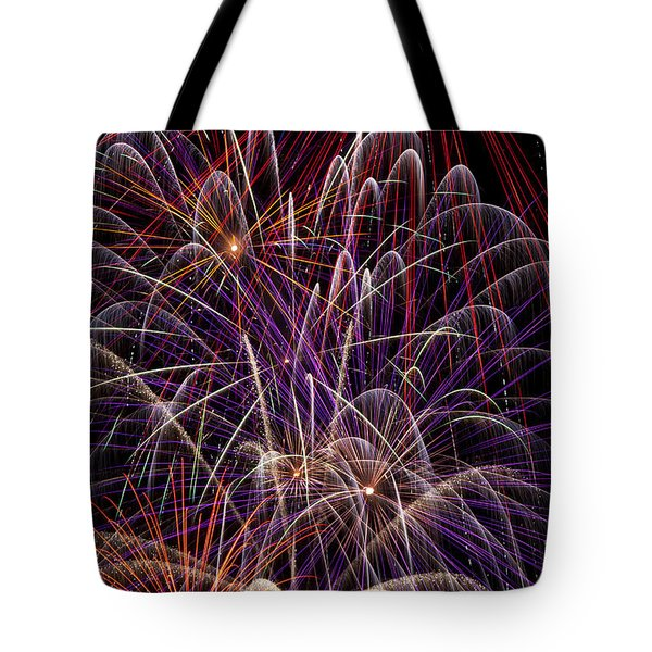 Beautiful Fireworks Tote Bag by Garry Gay