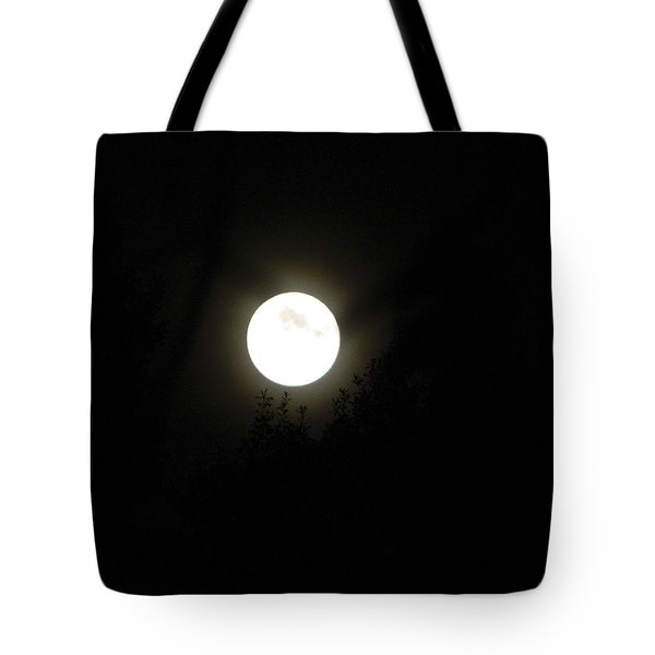 Tote Bag featuring the photograph Beautiful Full Moon by Ester  Rogers