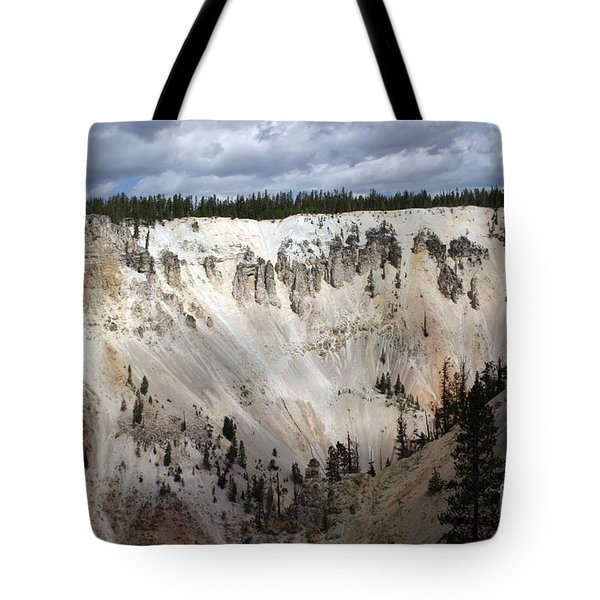 Beautiful Lighting On The Grand Canyon In Yellowstone Tote Bag by Living Color Photography Lorraine Lynch