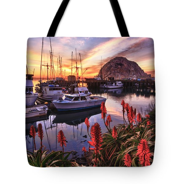 Beautiful Morro Bay Tote Bag