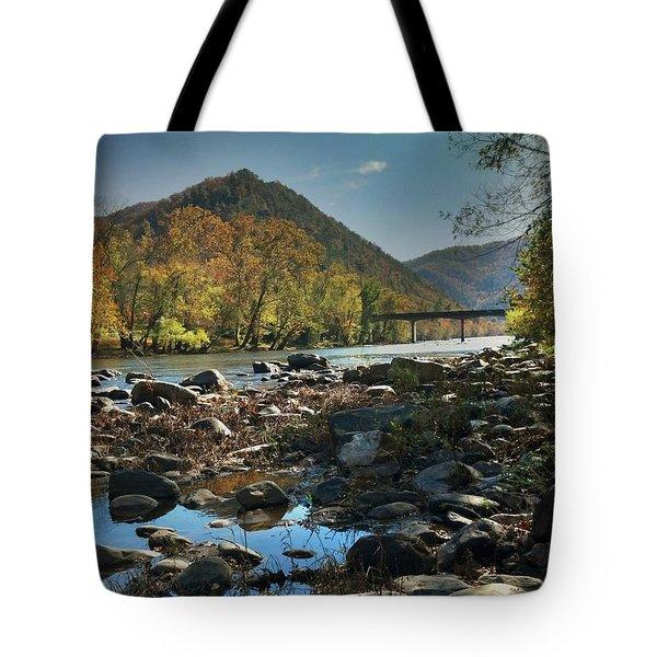 Beautiful Mountaina Tote Bag by Janice Spivey