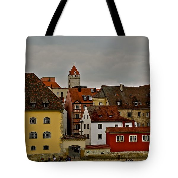 Tote Bag featuring the photograph Beautiful Regensburg by Kirsten Giving