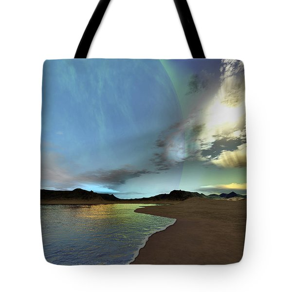 Beautiful Skies Shine Down On This Tote Bag by Corey Ford