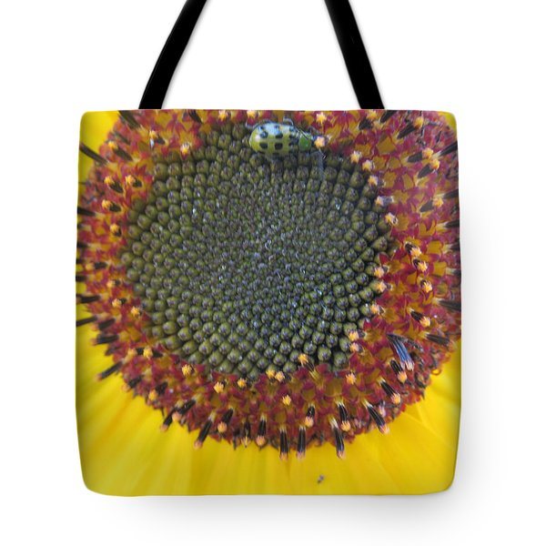 Tote Bag featuring the photograph Beauty And The Ladybug by Tina M Wenger