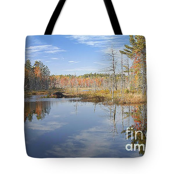 Tote Bag featuring the photograph Beaver Pond by Alana Ranney
