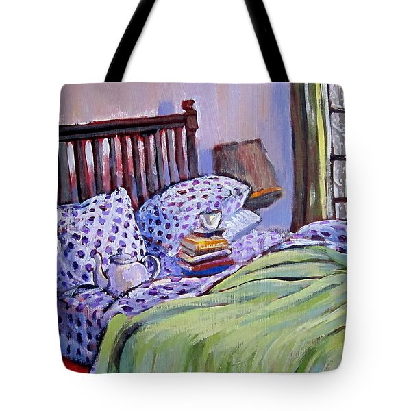 Bed And Books Tote Bag