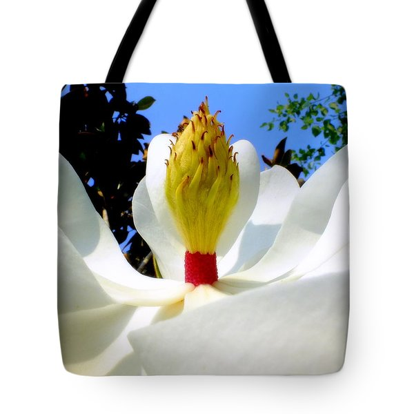 Bed Of Magnolia Tote Bag by Karen Wiles