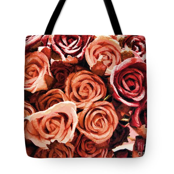 Tote Bag featuring the photograph Bed Of Roses by Traci Cottingham