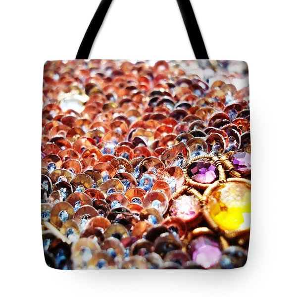 Bed Of Sequins Tote Bag by Sumit Mehndiratta