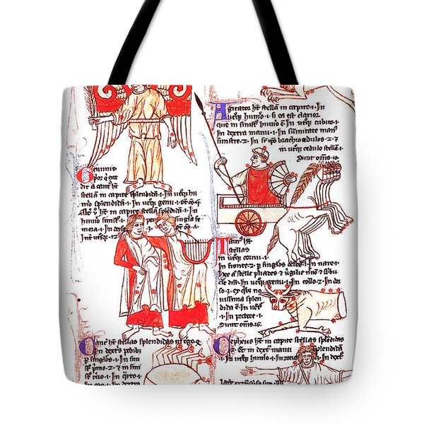 Bedes Constellations Tote Bag by Science Source