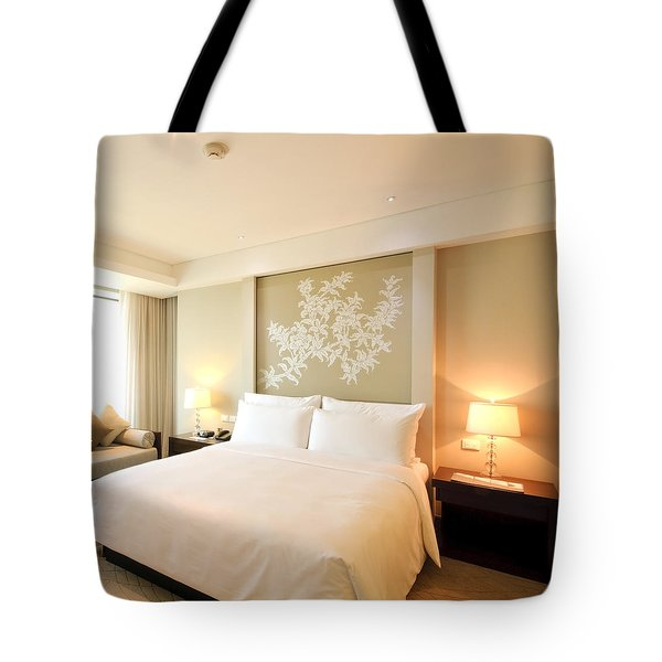 Bedroom In The Morning Tote Bag by Setsiri Silapasuwanchai