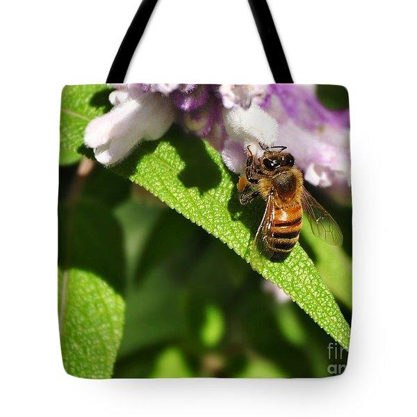 Bee At Work Tote Bag by Kaye Menner