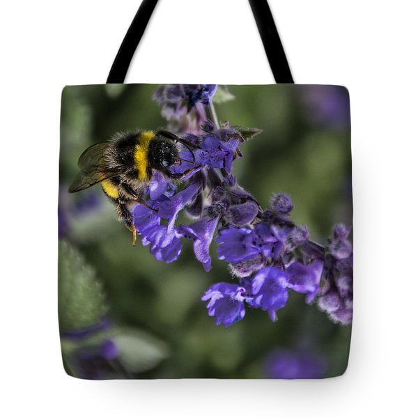 Tote Bag featuring the photograph Bee by David Gleeson