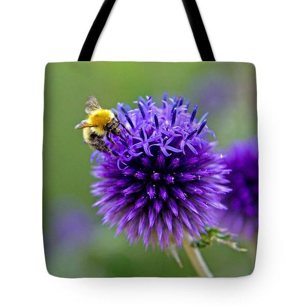 Bee On Garden Flower Tote Bag