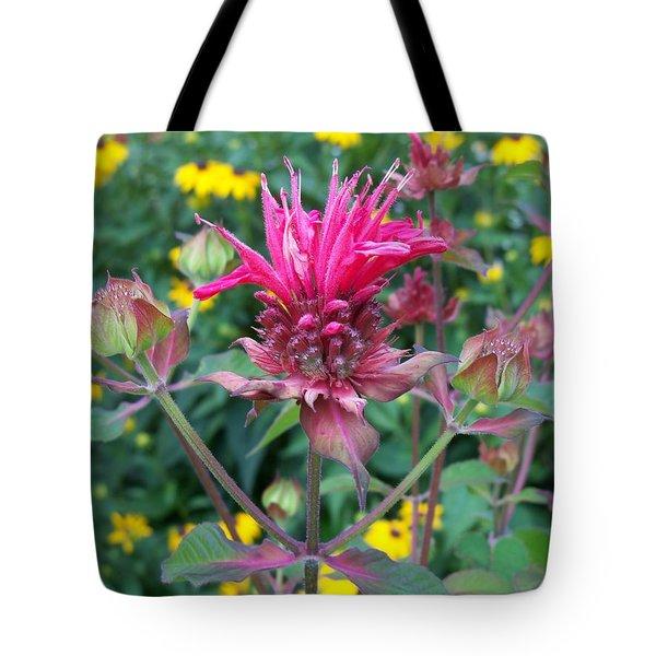 Beebalm Flower Tote Bag