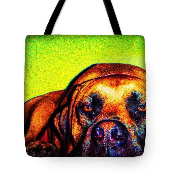 Beefy Girl In Bright Colors Tote Bag