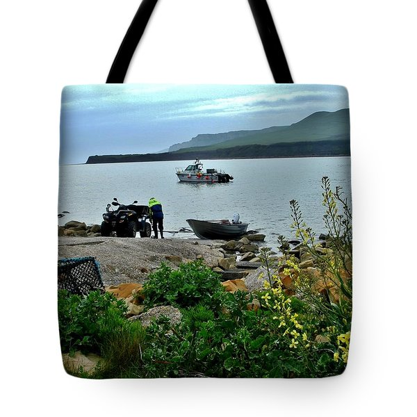 Tote Bag featuring the photograph Been A Good Day At The Sea by Katy Mei