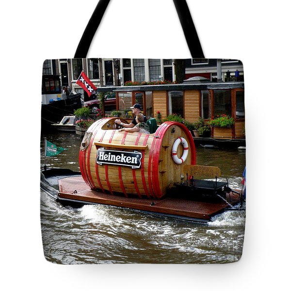 Beer Boat Tote Bag by Lainie Wrightson