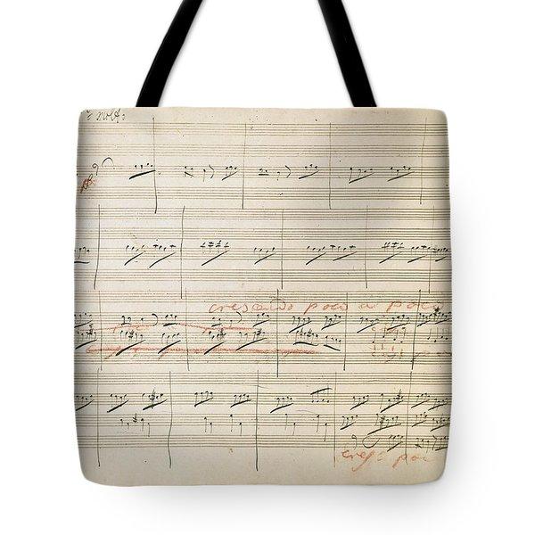 Beethoven Manuscript, 1806 Tote Bag by Granger