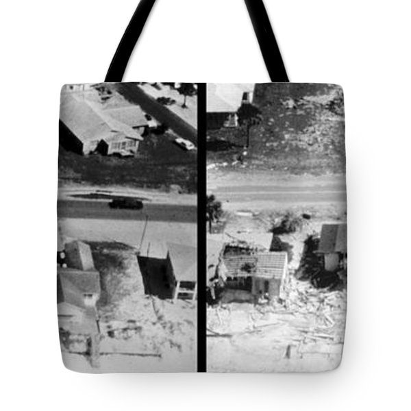 Before And After Hurricane Eloise 1975 Tote Bag by Science Source