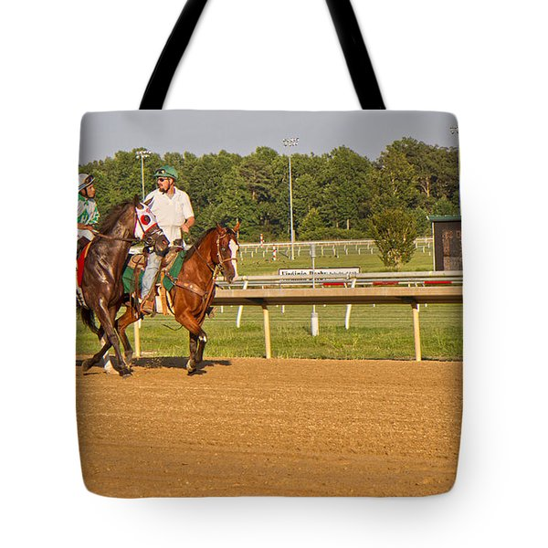 Before The Race Tote Bag by Betsy Knapp