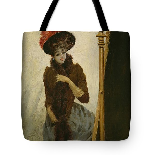 Before The Swing Mirror Tote Bag by Emile Galle