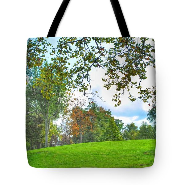 Tote Bag featuring the photograph Beginning Of Fall by Michael Frank Jr
