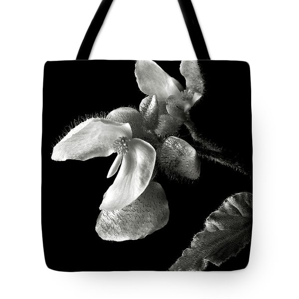 Begonia In Black And White Tote Bag