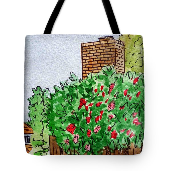 Behind The Fence Sketchbook Project Down My Street Tote Bag by Irina Sztukowski