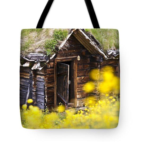 Behind Yellow Flowers Tote Bag by Heiko Koehrer-Wagner