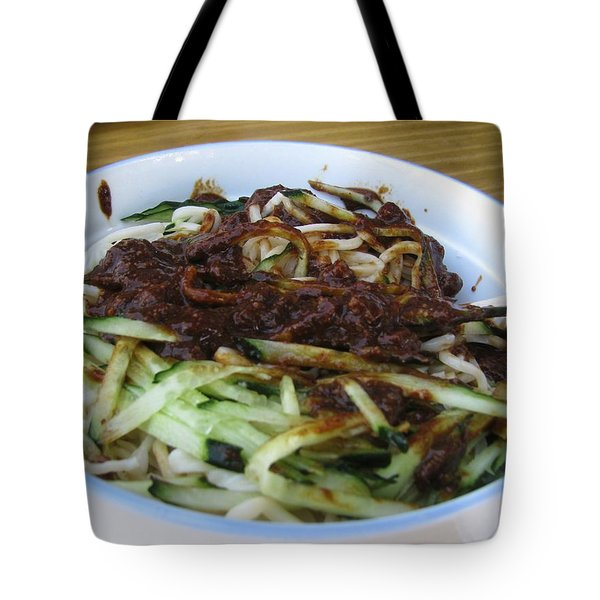 Tote Bag featuring the photograph Beijing Noodle by Alfred Ng