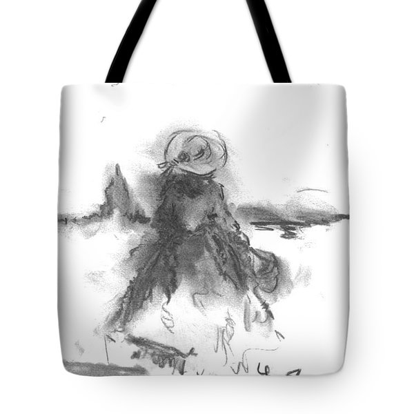 Tote Bag featuring the drawing Being Happy by Laurie L