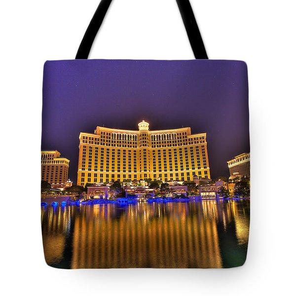 Belagio Las Vegas Tote Bag by Nicholas  Grunas
