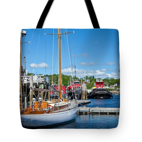 Belfast Harbor Tote Bag by Susan Cole Kelly