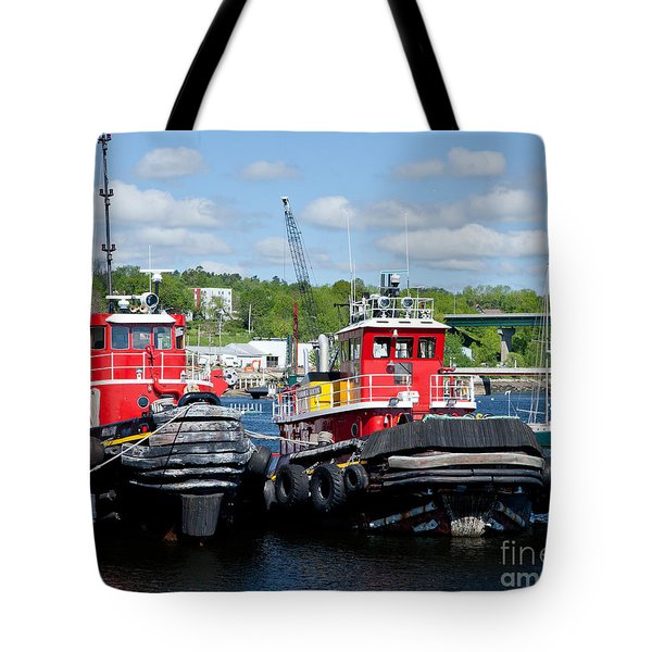 Belfast Tugboats Tote Bag by Susan Cole Kelly