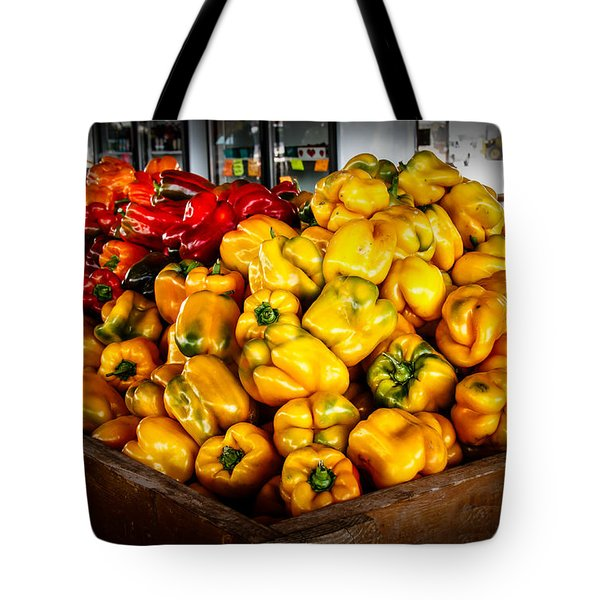 Bell Peppers Tote Bag by Robert Bales