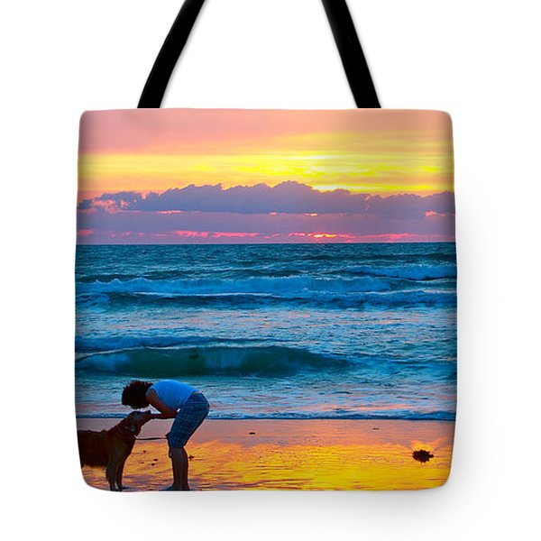 Tote Bag featuring the photograph Bella At Sunrise by Alice Gipson