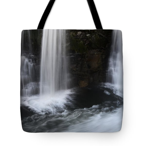 Below The Falls Tote Bag by Bob Christopher