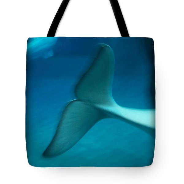Tote Bag featuring the photograph Beluga Tail by Peter Mooyman