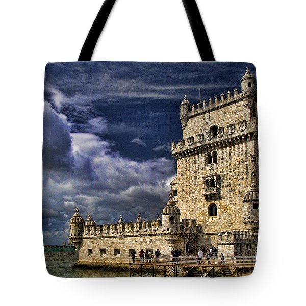 Belum Tower In Lisbon Portugal Tote Bag by David Smith